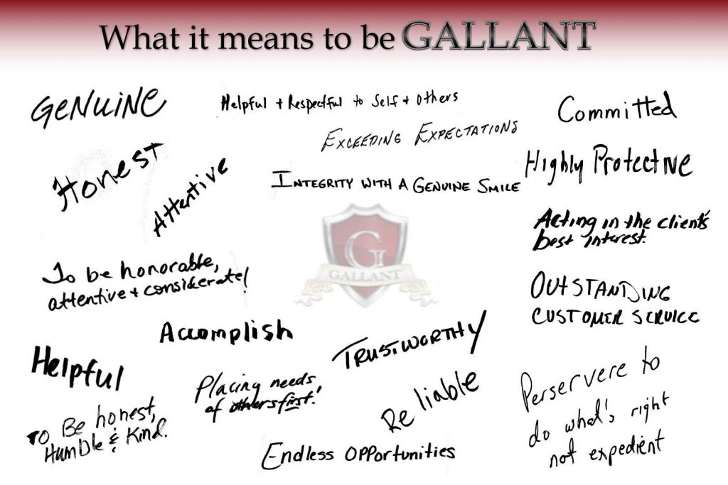 Gallant Risk employees share their thoughts on What It Means To Be Gallant